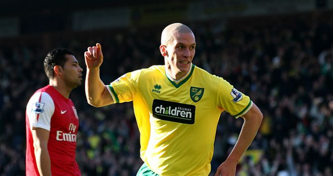 Steve Morison: Wales striker gave Norwich the lead against Arsenal at Carrow Road on Saturday