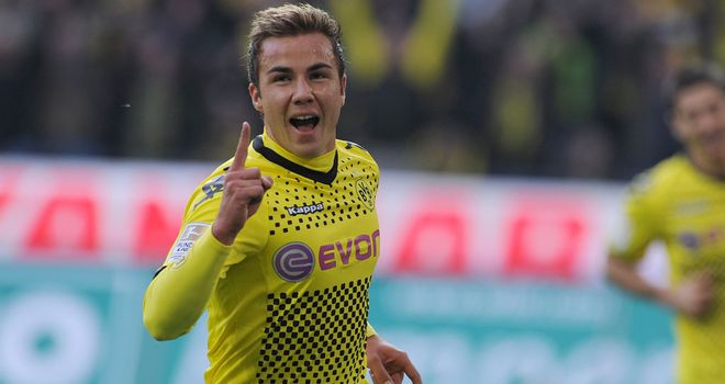 Mario Gotze: Signed a new deal to keep him at Borussia Dortmund until 2016
