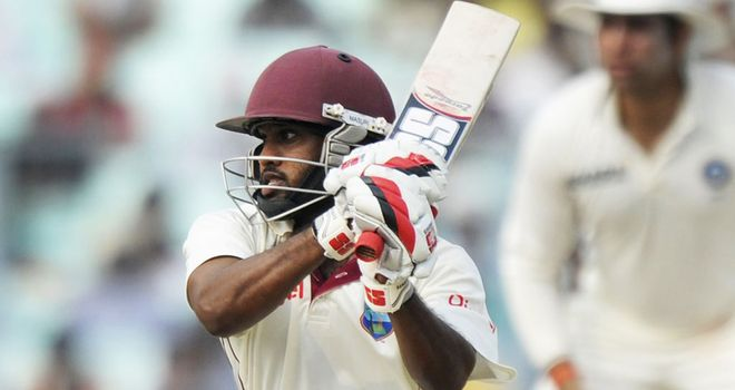 Adrian Barath: West Indies opener fell for 16 on day two at Hove