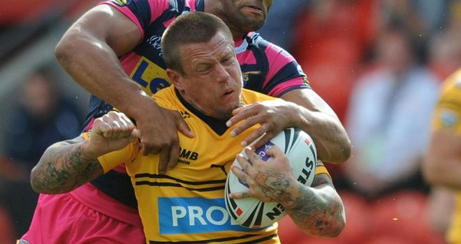 Ryan McGoldrick: Salford's new signing in action for Castleford