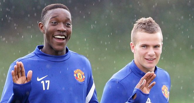 Danny Welbeck (L): Has high hopes for United team-mate Cleverley