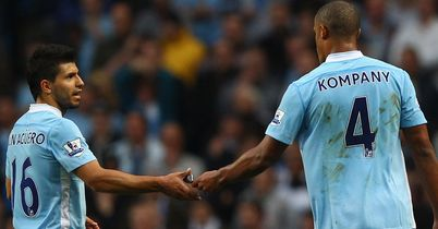 Aguero and Kompany: Both selected in our Top Men XI of the Season