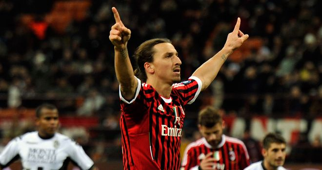 Zlatan Ibrahimovic: On target as AC Milan overcame Atalanta 2-0