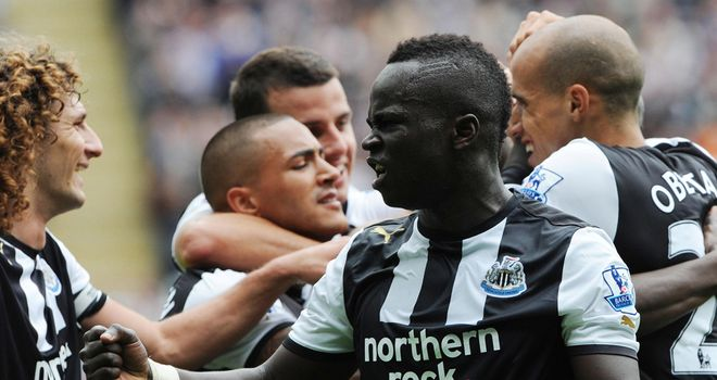 Tiote: The Newcastle enforcer is set to make a return to the side to face Wolves on saturday