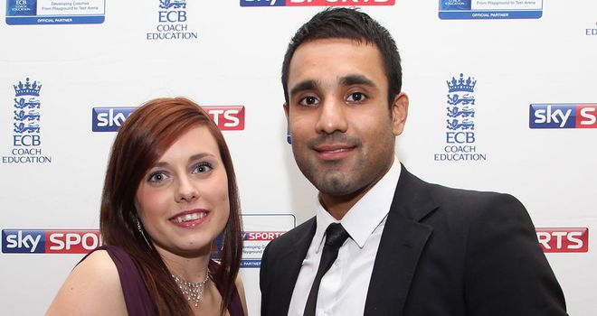 Lizzie Harrison with Bopara