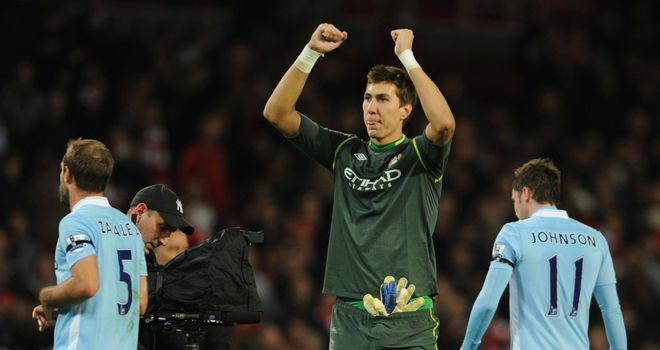 Costel Pantilimon: Manchester City 'keeper looking for positives in defeat