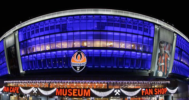 The Donbass Arena, Donetsk: Will play host to a quarter and semi-final next summer