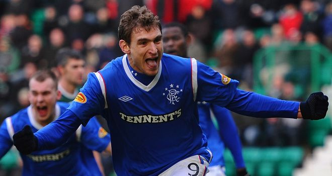 Nikica Jelavic: Has been linked with a move to Premier League side Liverpool