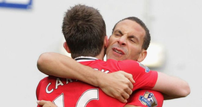 In-form: United have been boosted by the current form of Carrick and Ferdinand