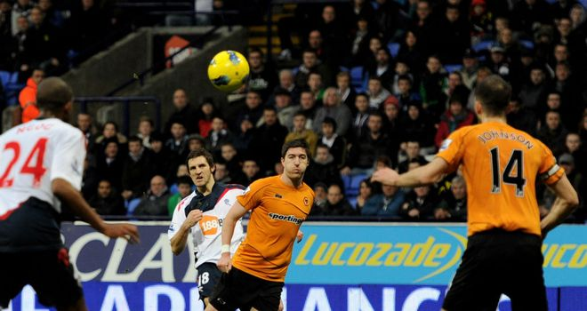 Sam Ricketts: Fired Bolton in front against Wolves, but they could not hold on