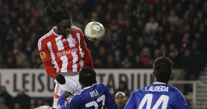 Kenwyne Jones: His goal rescues Stoke as they qualified for the last-32 of the Europa League