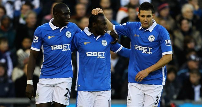 Victor Moses: Netted his first goal in 13 months as Wigan edged out West Brom