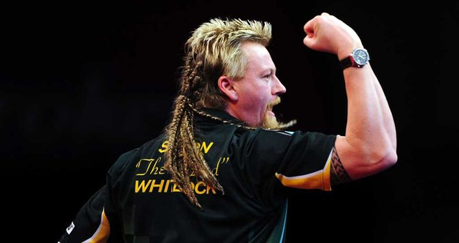Simon Whitlock: Will now face Andy Hamilton for a place in the final at Alexandra Palace