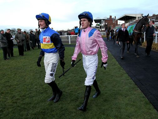 Costello (left): Rode Gullibursti at Exeter