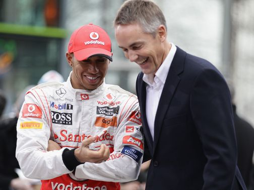 Hamilton (l) and Whitmarsh in happier times