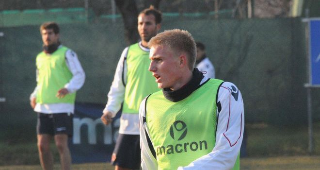 Frederik Sorensen: Trains with his new Bologna team-mates