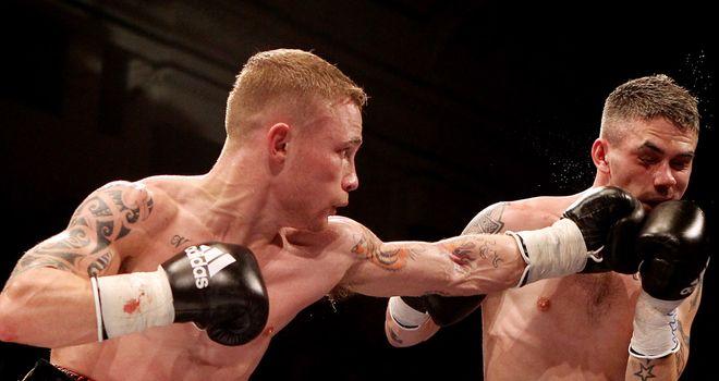 Jury's out: Frampton (left) beat Hughes but did not overwhelm Glenn