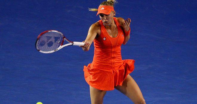 Caroline Wozniacki: Overcame Jelena Jankovic in straight sets on Rod Laver Arena