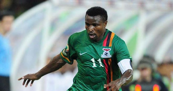Christopher Katongo: Scored Zambia's second goal to secure a place in the semi-finals