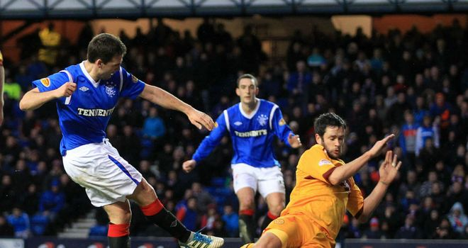 David Healy: Helped Rangers get back on track with a 3-0 win against Motherwell