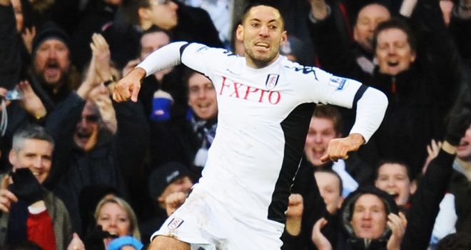 Clint Dempsey: Seeking his third hat-trick this month on Merseyside