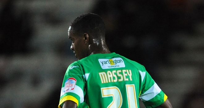 Massey: Encouraging spell at Huish Park