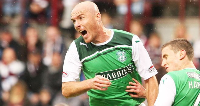 O'Hanlon: On target for Hibs
