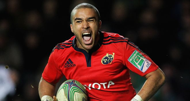 Simon Zebo: On the scoresheet for Munster