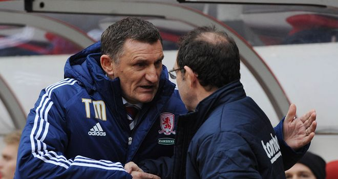 Tony Mowbray: Middlesbrough boss watched his side draw 1-1 at Sunderland