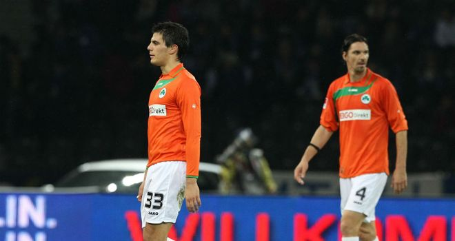 Danijel Aleksic (left): On the brink of joining St Etienne