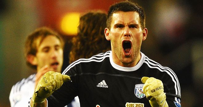 Ben Foster: The West Brom keeper - on-loan from Birmingham - thinks Blues defender Liam Ridgewell would be a great signing for the Baggies
