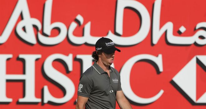 Rory McIlroy: Share of the first round lead after starting with a 67 in Abu Dhabi