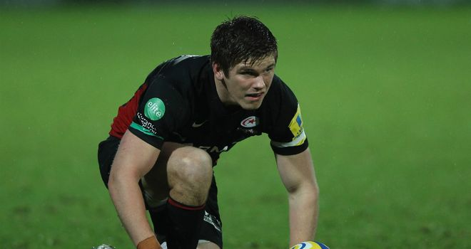 Owen Farrell: kicked all Saracens' points in draw with Gloucester
