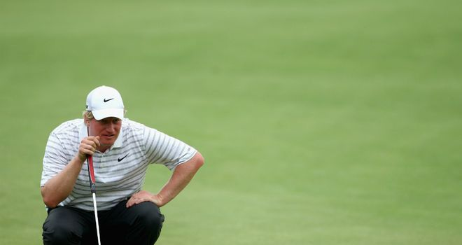 Richard Finch: eagle at the eighth helped Englishman retain a share of Joburg Open lead