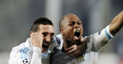 Andre Ayew (right): Scored Marseille's winner