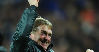 Dalglish: Celebrates Liverpool's triumph
