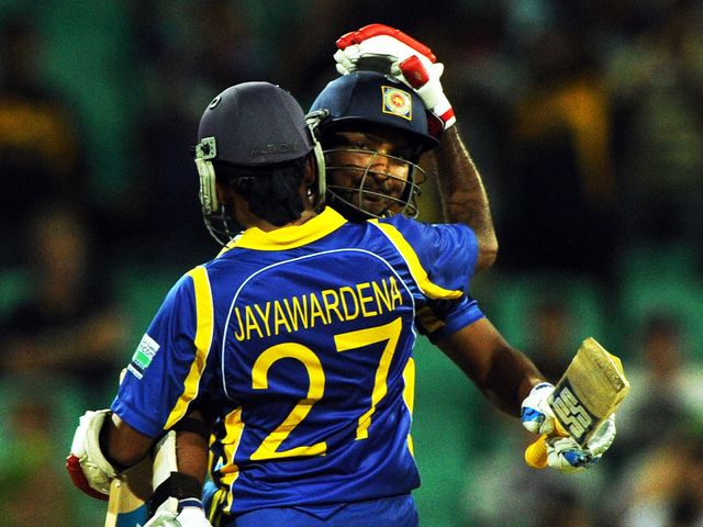 Sri Lanka celebrate against Australia