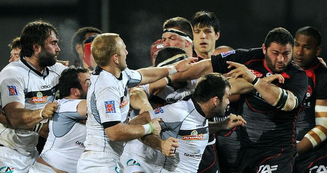 Tempers flare between Lyon and Brive