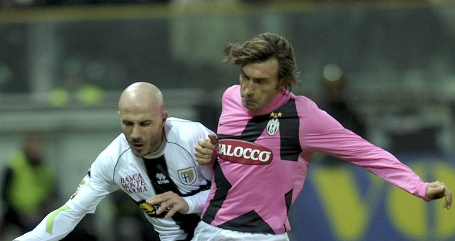 Andrea Pirlo and co were held on Wednesday following Juventus' goalless draw with Parma