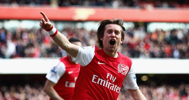 Tomas Rosicky: Arsenal man will play no part in Czech friendly against Republic of Ireland