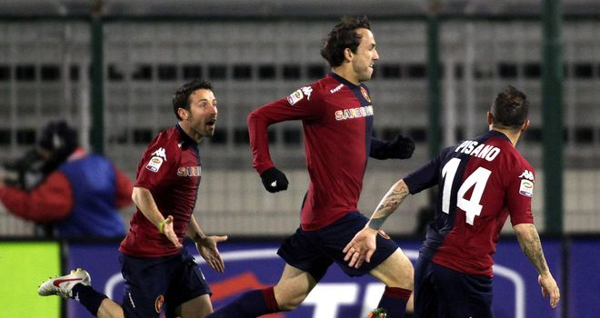 Thiago Ribeiro: Scored hat-trick for Cagliari