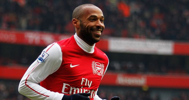 Thierry Henry: Makes flying visit to London