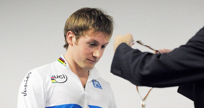 Jason Kenny: Will sport the rainbow jersey later on at the London Track World Cup