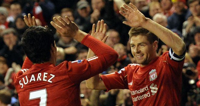 Luis Suarez and Steven Gerrard: The pair have been left out of the trip to Tynecastle