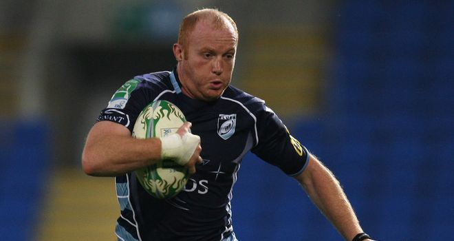 Try for Cardiff: Martyn Williams