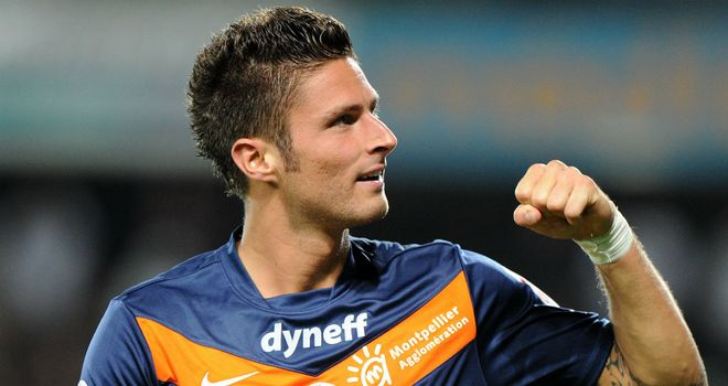 Olivier Giroud: Arsenal boss Arsene Wenger closing in on the Montpellier striker