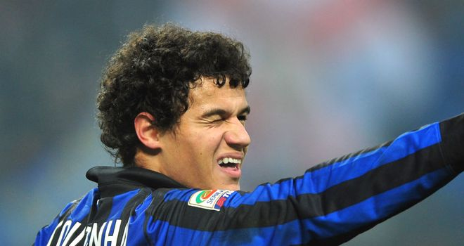 Philippe Coutinho: Inter Milan youngster out for a month