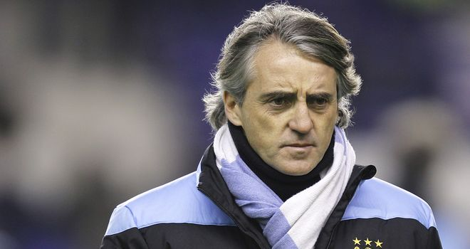 Roberto Mancini: The Manchester City manager has criticised English referees after recent events