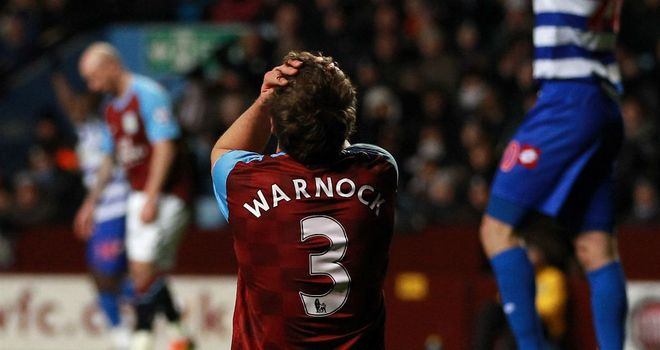 Stephen Warnock: The defender is one of four players who have left the Aston Villa treatment room this week