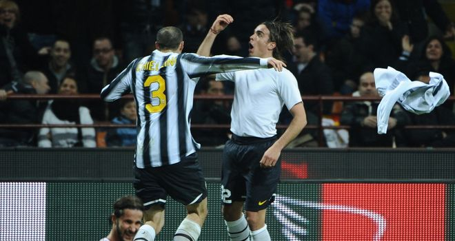 Alessandro Matri: Celebrating his equaliser